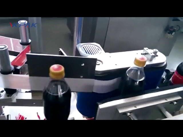 Mesin Pelabelan Botol Cola Otomatis