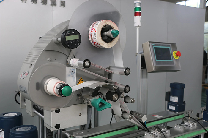 Detail Mesin Pelabelan Stiker Atas dan Bawah Sisi Ganda Otomatis