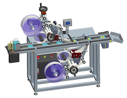 Mesin Pelabelan Perekat Atas Dan Bawah Otomatis