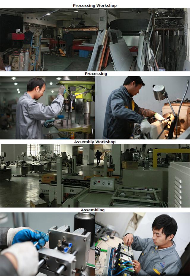 Pengolahan untuk pembuatan mesin pelabelan buklet karton botol permukaan datar