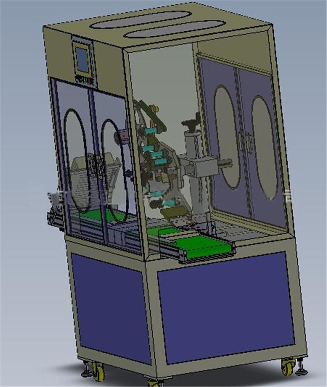 Mesin pelabelan permukaan datar dengan ruang pelindung